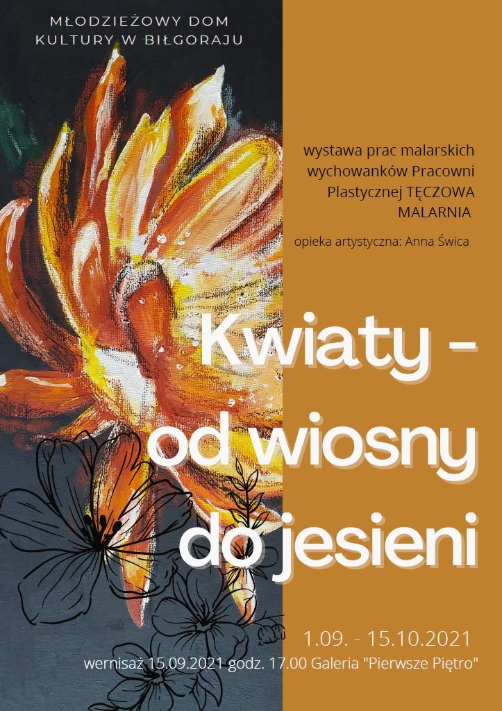 plakat Kwiaty od wiosny do jesieni plakat