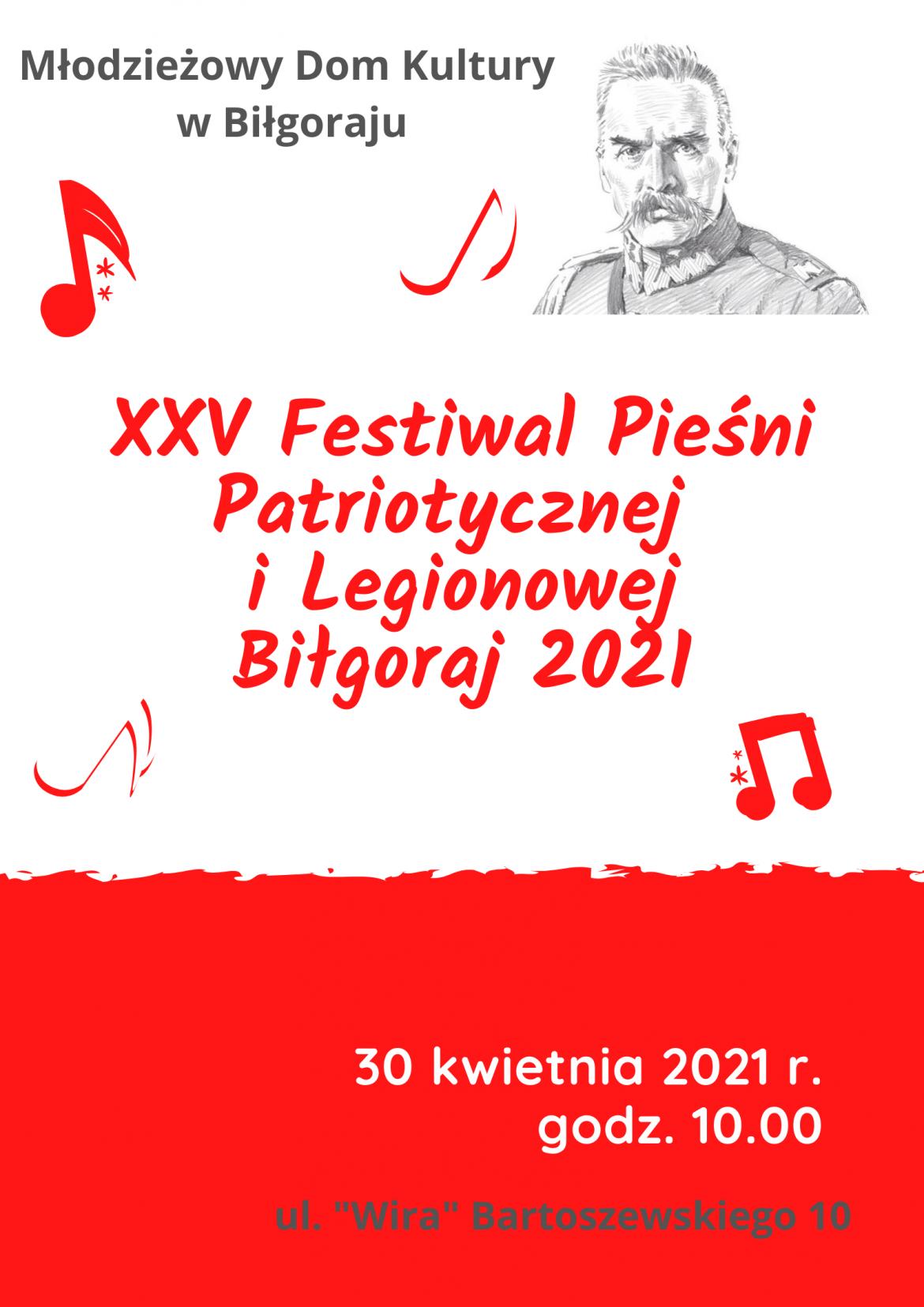 XXV Festiwal Pieśni Patriotycznej i Legionowej Biłgoraj 2021