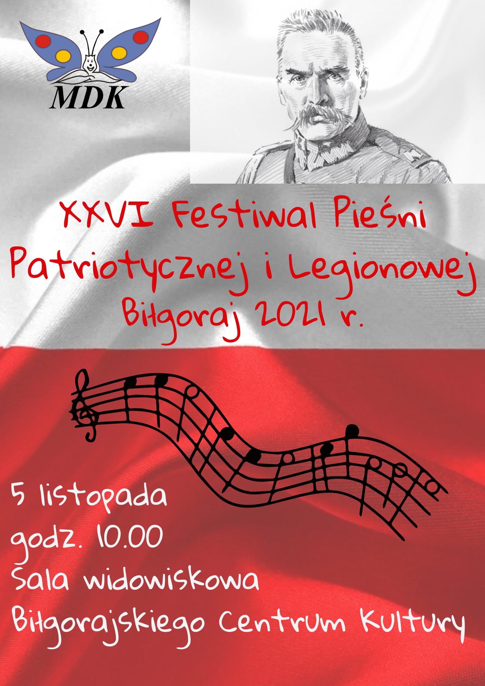 XXVI Festiwal Pieśni Patriotycznej i Legionowej Biłgoraj 2021 r