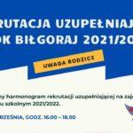 Rekrutacja Uzupełniająca 2021-2022