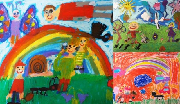 Dzieci namalowały zaczarowany ogród