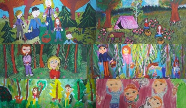 Dzieci malowały rodzinę